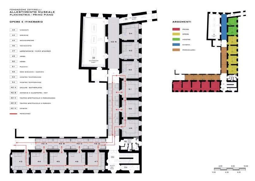 Pianta del Museo Franco Zeffirelli
