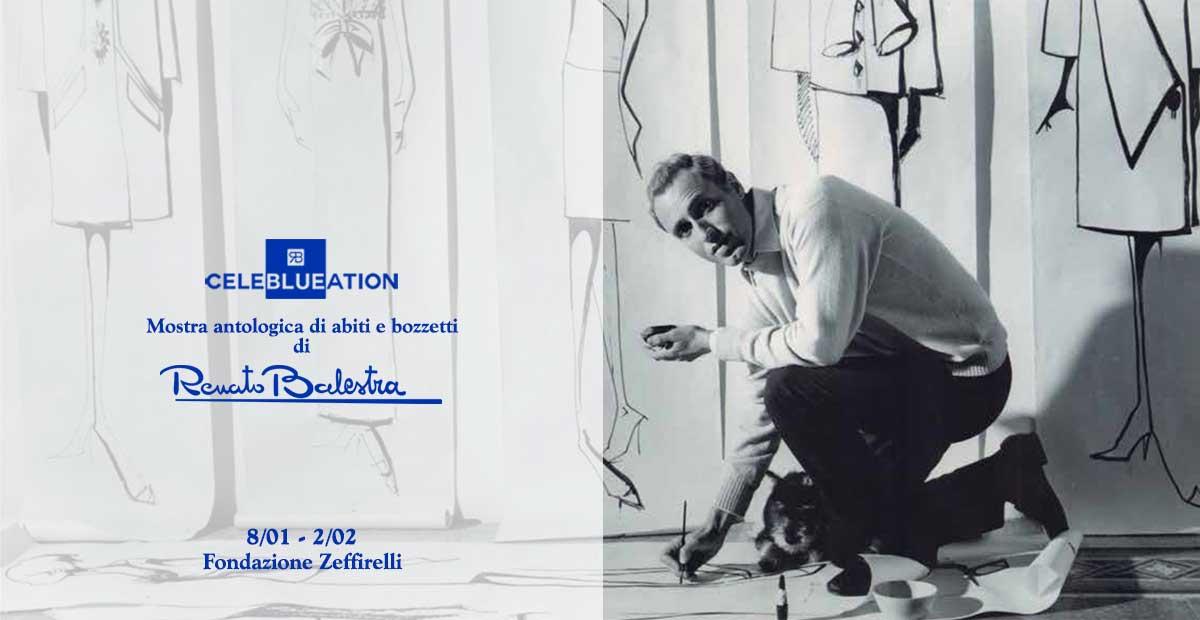 CELEBLUEATION – la Mostra antologica di abiti e bozzetti di Renato Balestra