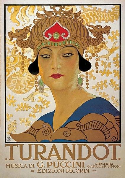 Locandina Turandot 1926