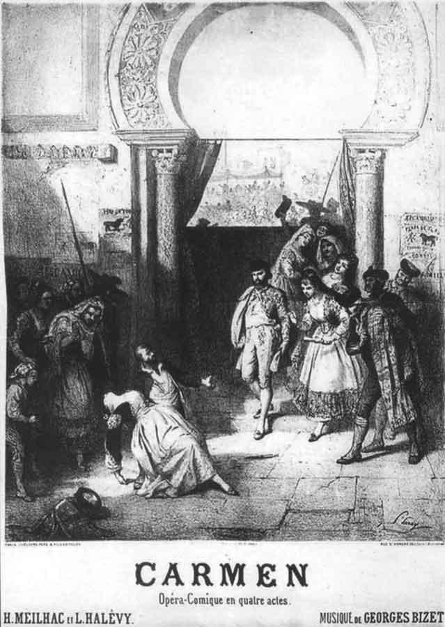 1875 Poster Carmen di Bizet