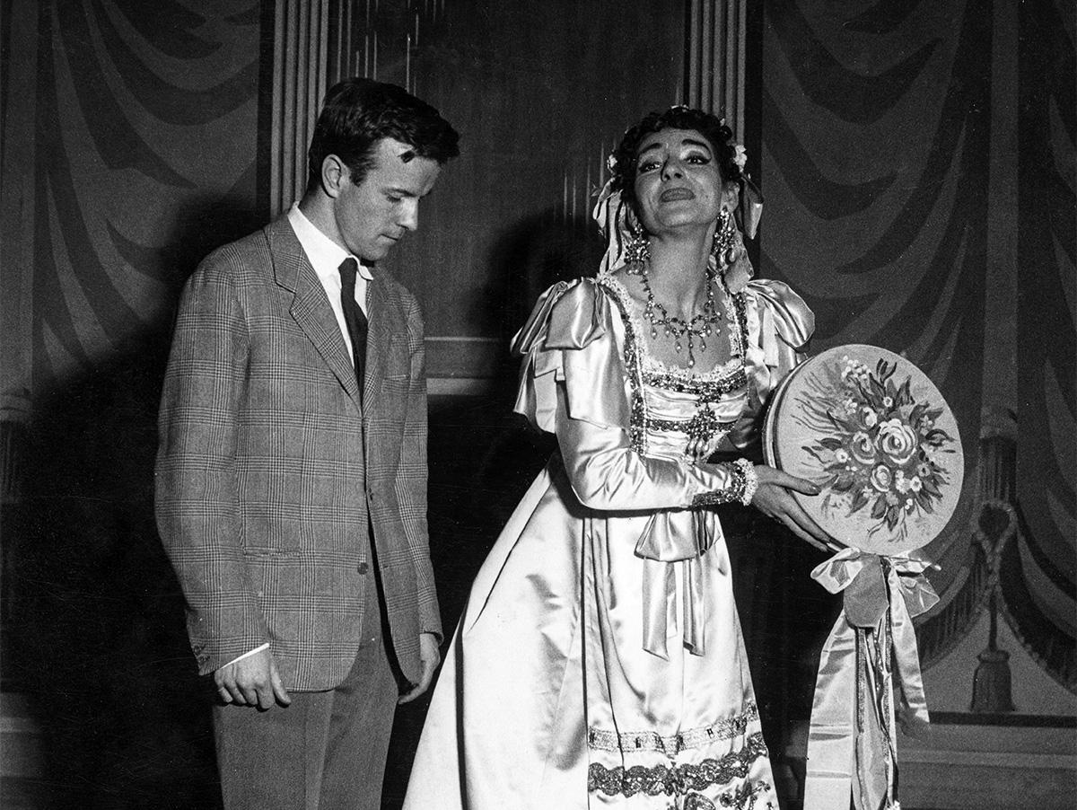 maria Callas e Franco Zeffirelli- Turco in Italia